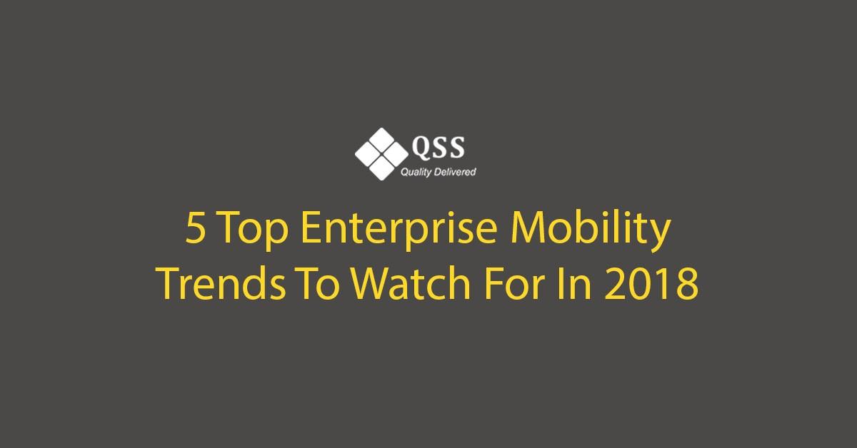 enterprises software trends in 2018