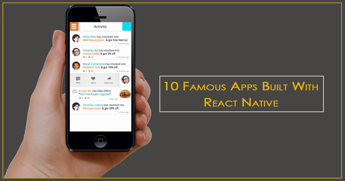 10 famous app biuld with react native
