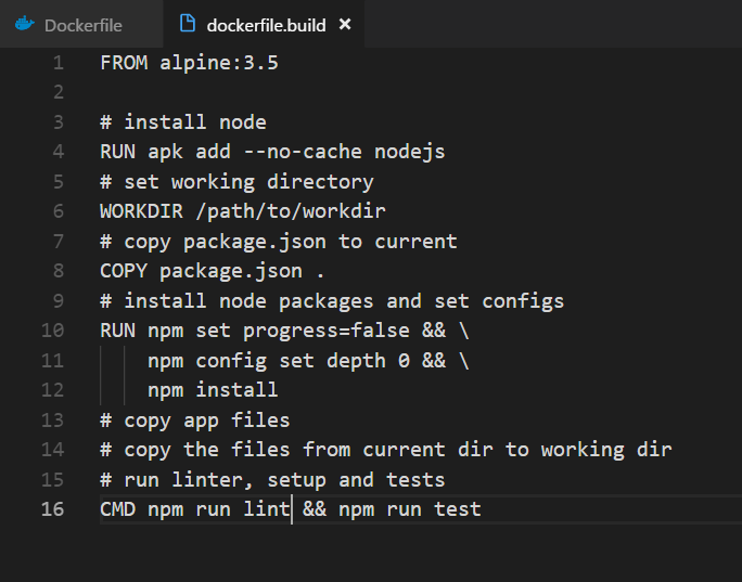 Multi-Stage Nodejs Build with Docker in Production -
