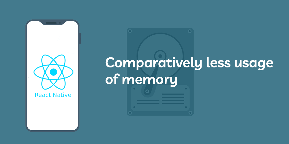comparatively less usage of memory